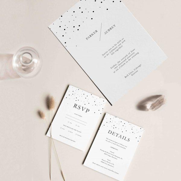 tarjetas de invitacion minimalista