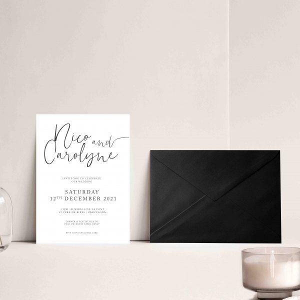 invitaciones de boda elegantes con sobre
