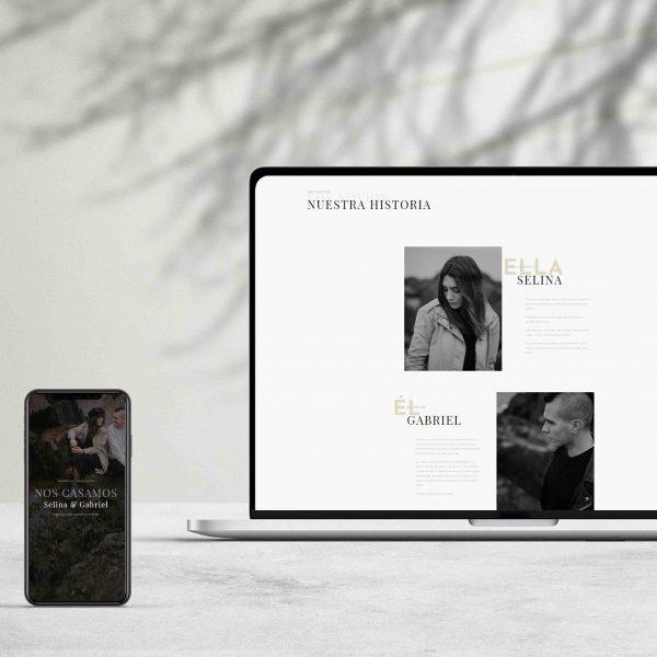 diseño de págians web para boda