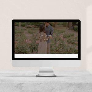 página web para boda brown