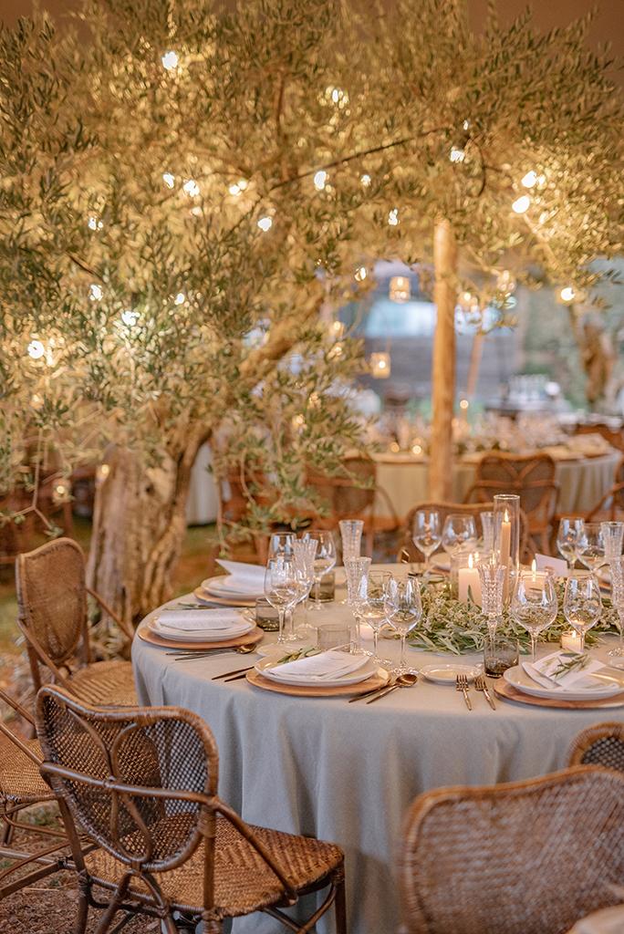 decoracion de bodas al aire libre de noche